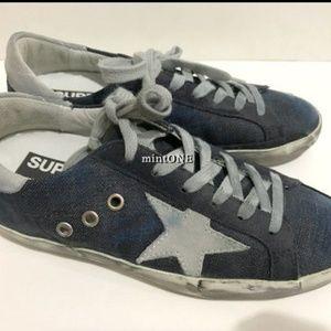 NIB Golden Goose superstar denim sneakers size 35